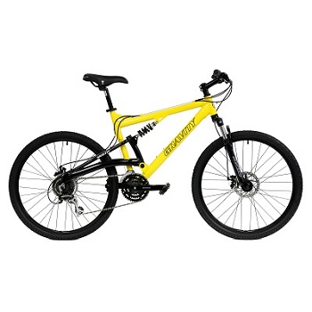 Gravity FSX 1.0 Dual Full Suspension Mountain Bike with Disc Brakes