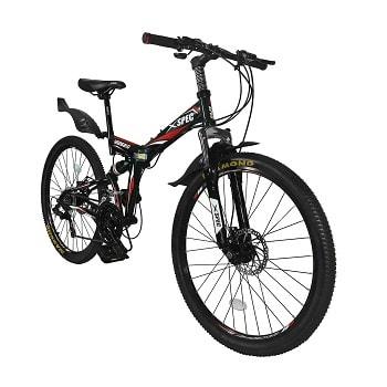 Xspec 26'' 21-Speed Folding Mountain Trail Bicycle Commuter Foldable Bike
