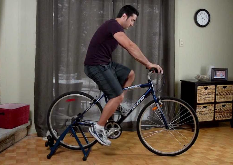 How to turn Bike into Stationary Bike DIY
